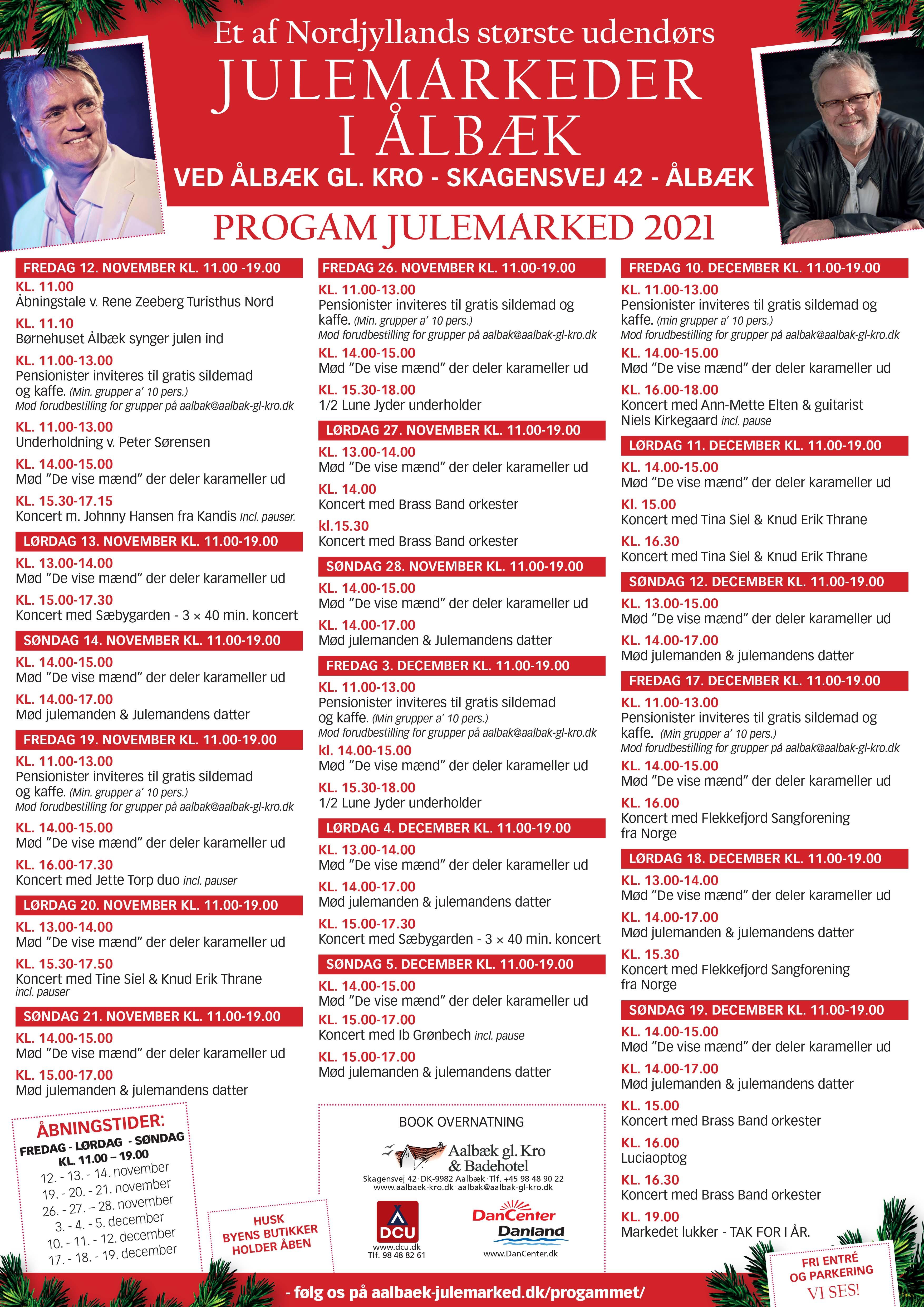 Ålbæk Julemarked 2021 - Program for Smagen Af Jul